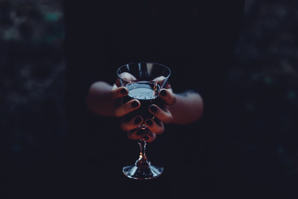 Wine Glass & Hands
