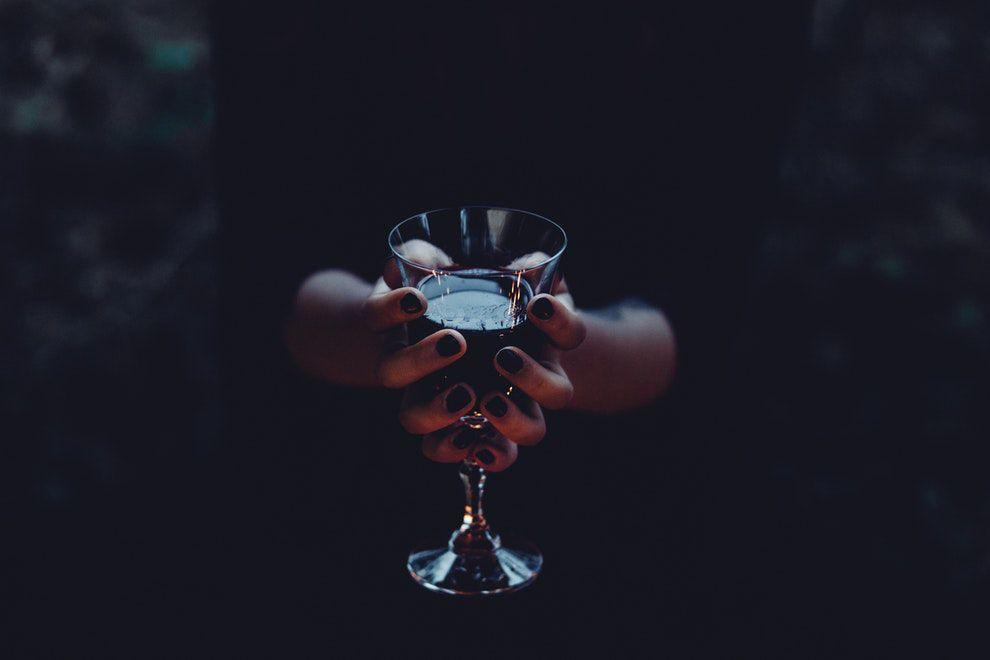 Wine Glass & Hands