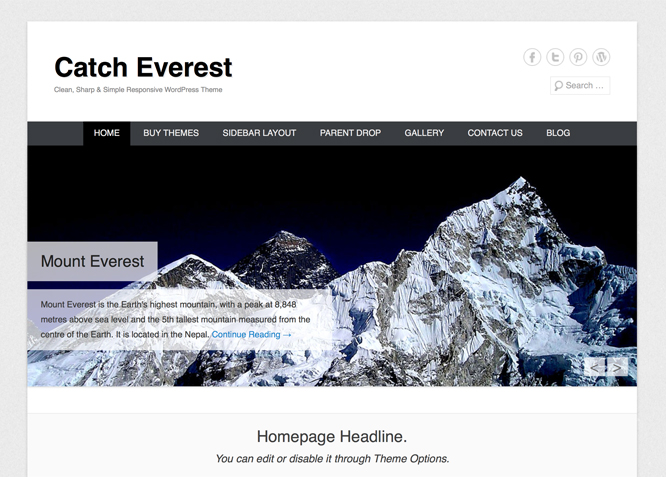 Catch Everest is Simple, Clean & Responsive WordPress Theme