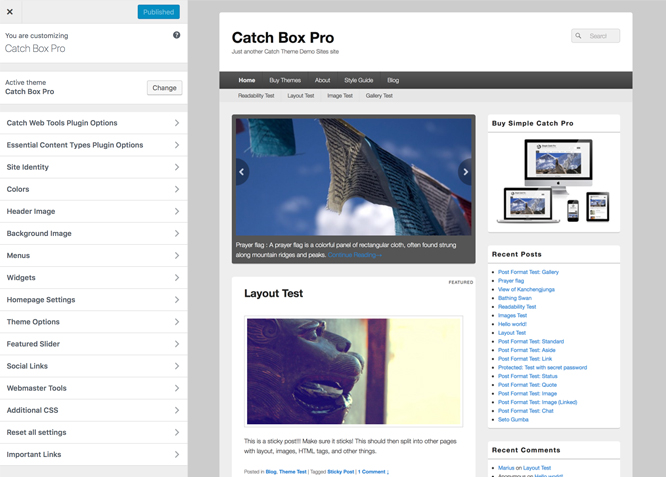 Catch Box Pro Simple Box Premium Responsive Wordpress Themes
