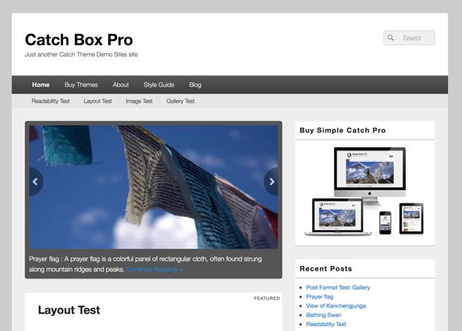 Wszystkie nowe Catch Box Pro | Simple Box Shaped Premium Responsive WordPress Themes DT52