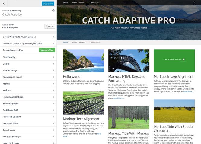 Catch Adaptive | Full Width Reposnive WordPress Theme