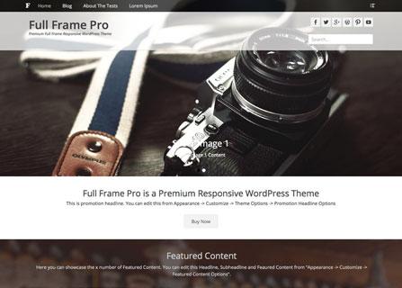 Full Frame Pro WordPress Theme Screenshot