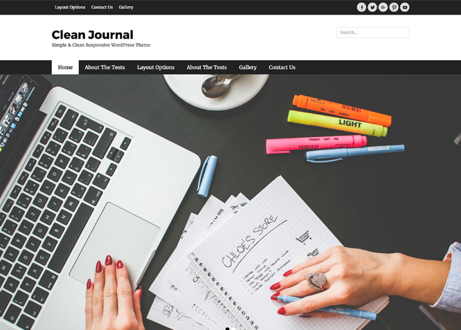 Clean Journal | Clean Responsive WordPress Theme