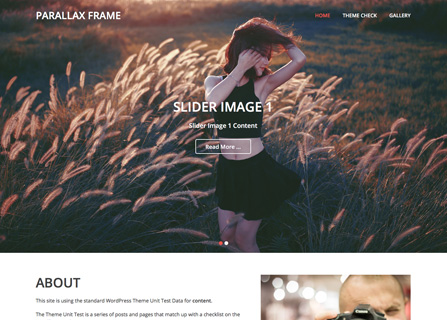 Screenshot Parallax Frame Theme