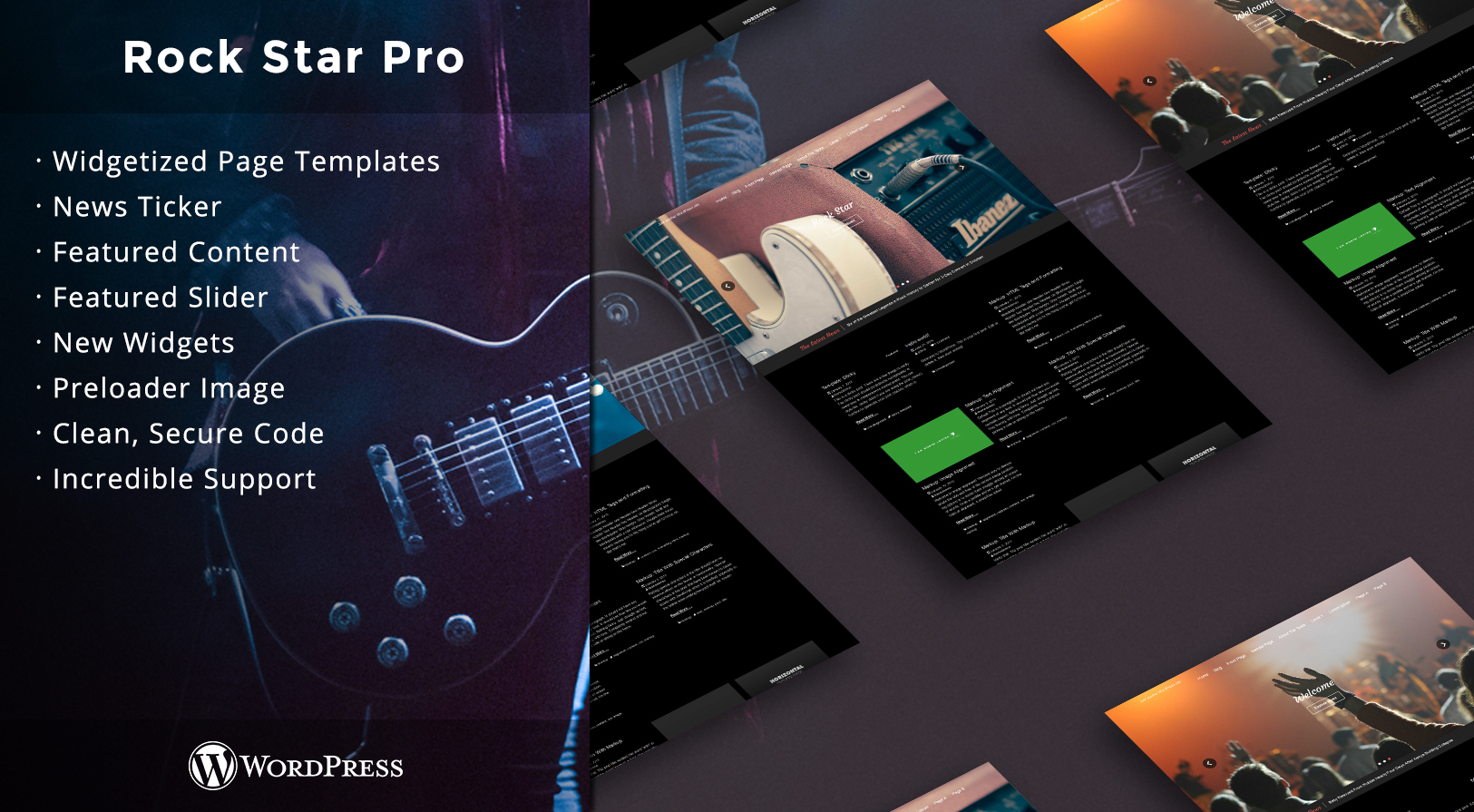 Rock Star - Premium Music WordPress Theme