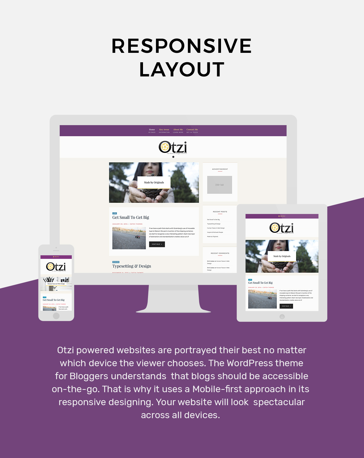 WordPress theme for Bloggers
