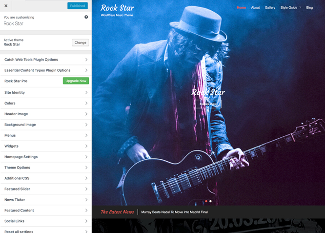 Rock Star Free Music Wordpress Theme