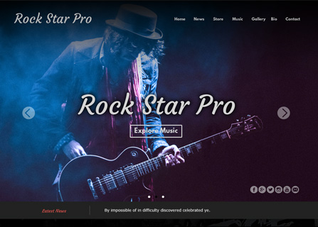Rock Star Pro Theme Screenshot