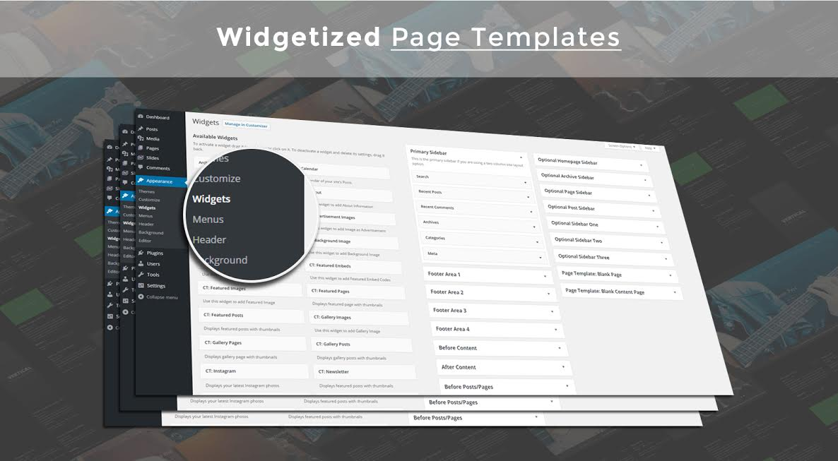 Widgetized Page Templates