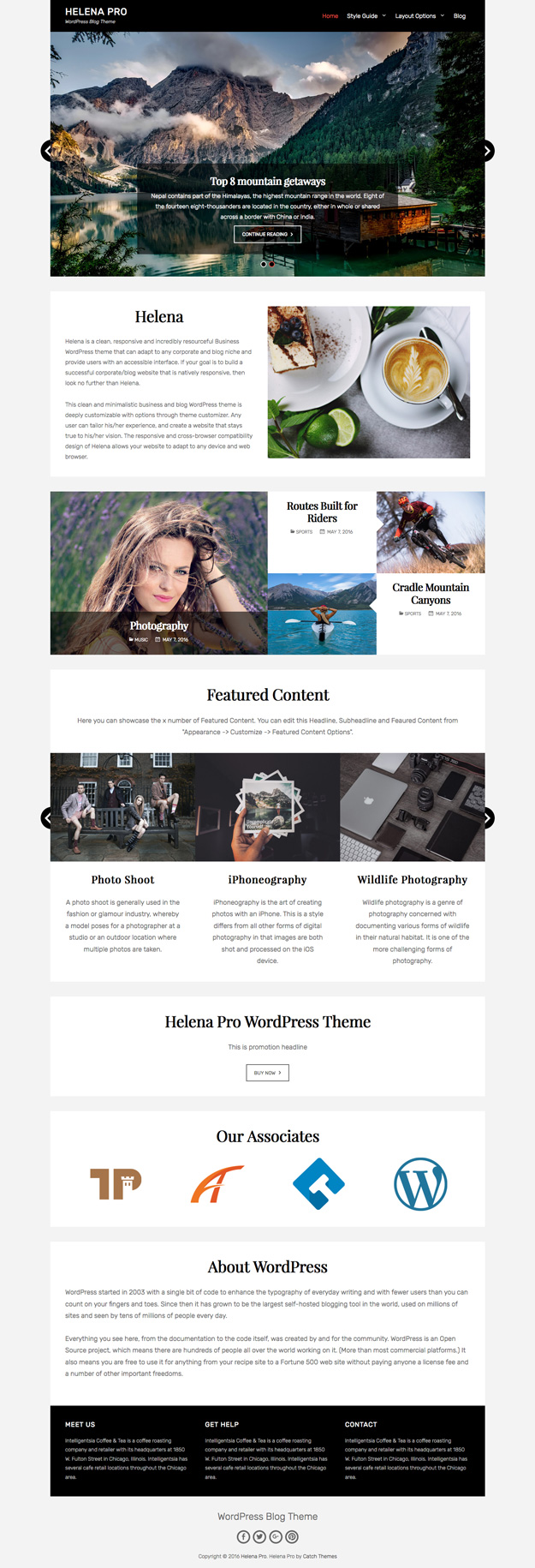 Helena Pro, is a WordPress theme for bloggers who are looking to create a strong social media presence.