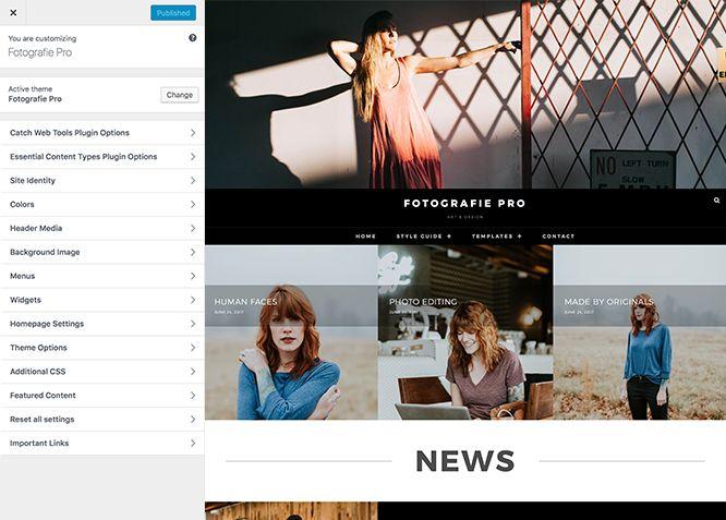 Wordpress Themes Fotografie