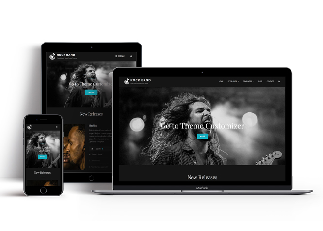 Best Free Music WordPress Theme for Rock & Metal Bands