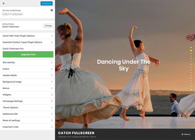 Free One Page WordPress Theme - Catch Fullscreen