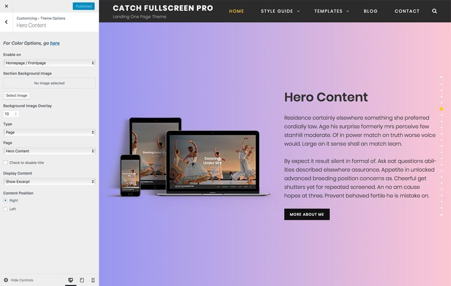One Page Premium WordPress Theme - Catch Fullscreen Pro