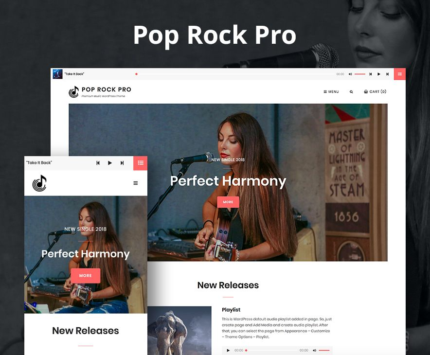 Pop Rock Pro Theme Screenshot
