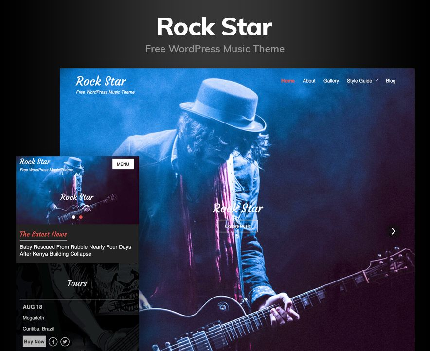 Rock Star Theme Screenshot