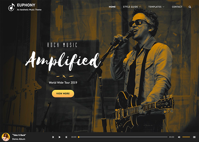 Euphony - Free Music WordPress theme for musicians and bands