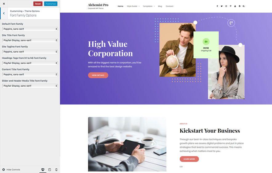 Alchemist Pro – A Multipurpose Corporate WordPress Theme