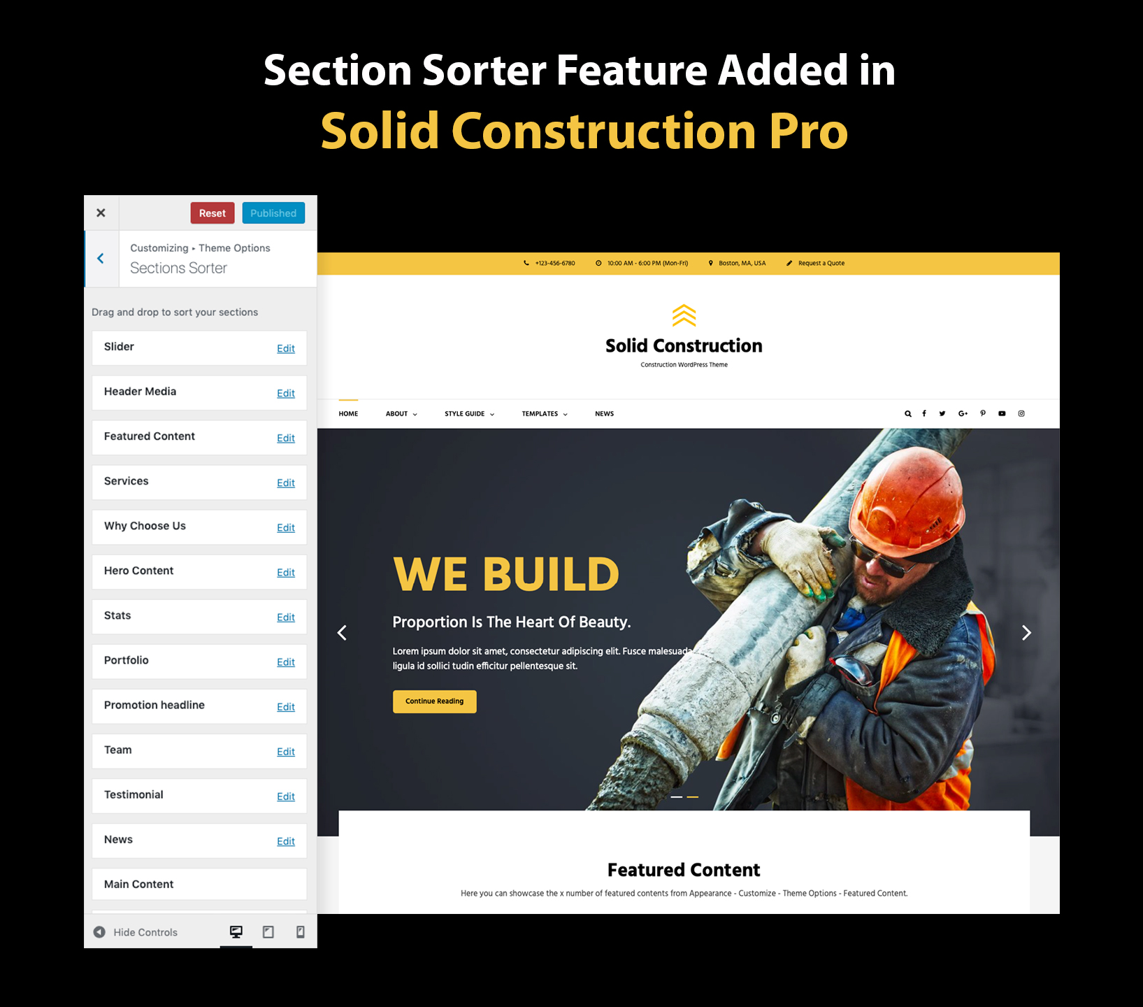 Sections Sorter Added in Solid Construction Pro
