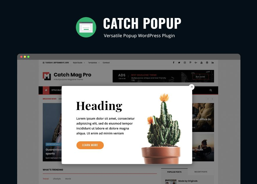 Catch Popup - New WordPress Plugin Launched on Catch Themes 7th Anniversary
