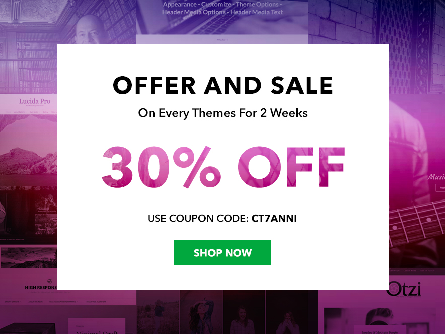 Catch Themes 7th Anniversary Sale Coupon