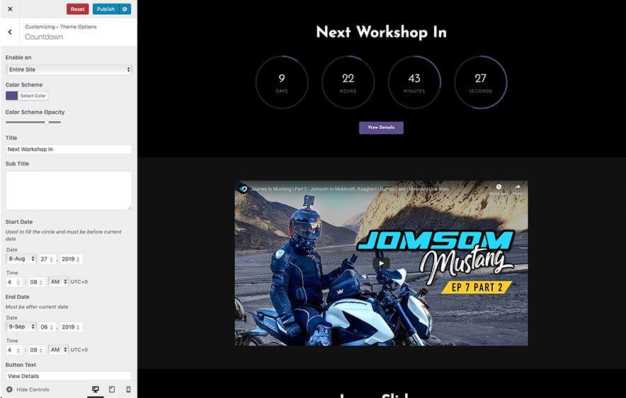 Countdown Section Screenshot