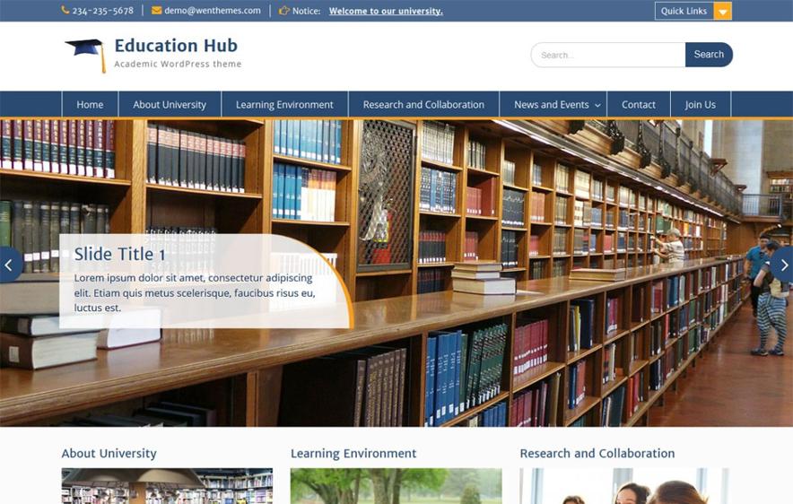 Education Hub - 25+ Best Free WordPress Themes 2019