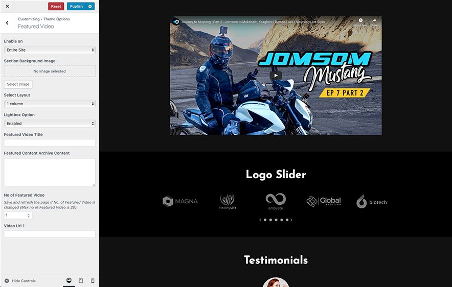 Featured Video Section