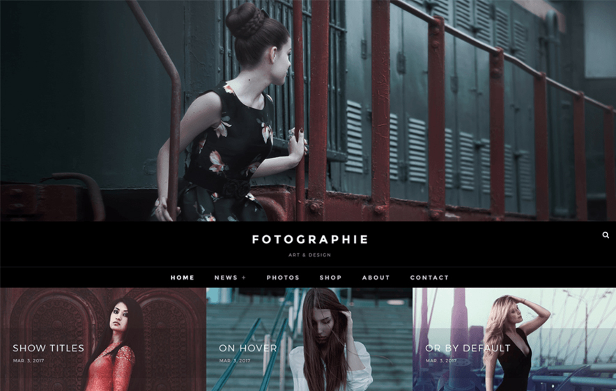 Fotografie Free Photography WordPress Themes