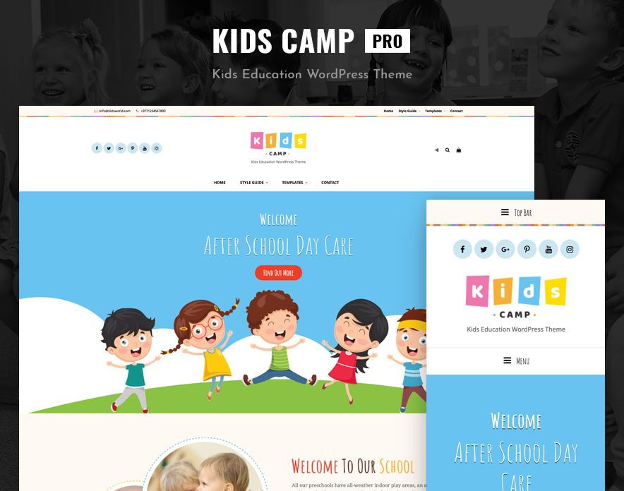 Kids Camp Pro - New WordPress Theme Launched on Catch Themes 7th Anniversary
