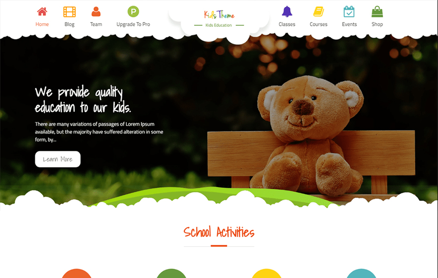 Kids Education Free Education WordPress Theme