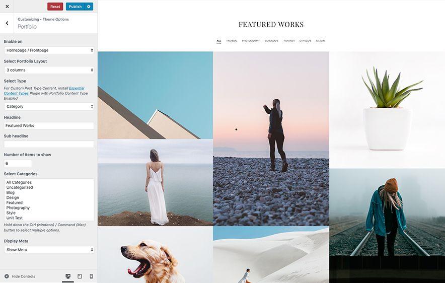Portfolio Layout Screenshot
