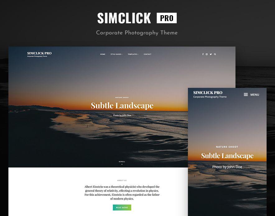 SimClick Pro – A Premium Photography WordPress Theme Main Screenshot