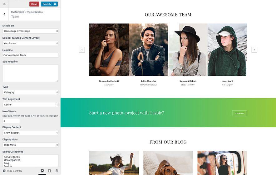 Team Section Design Screenshot