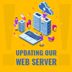 we are updating our web server