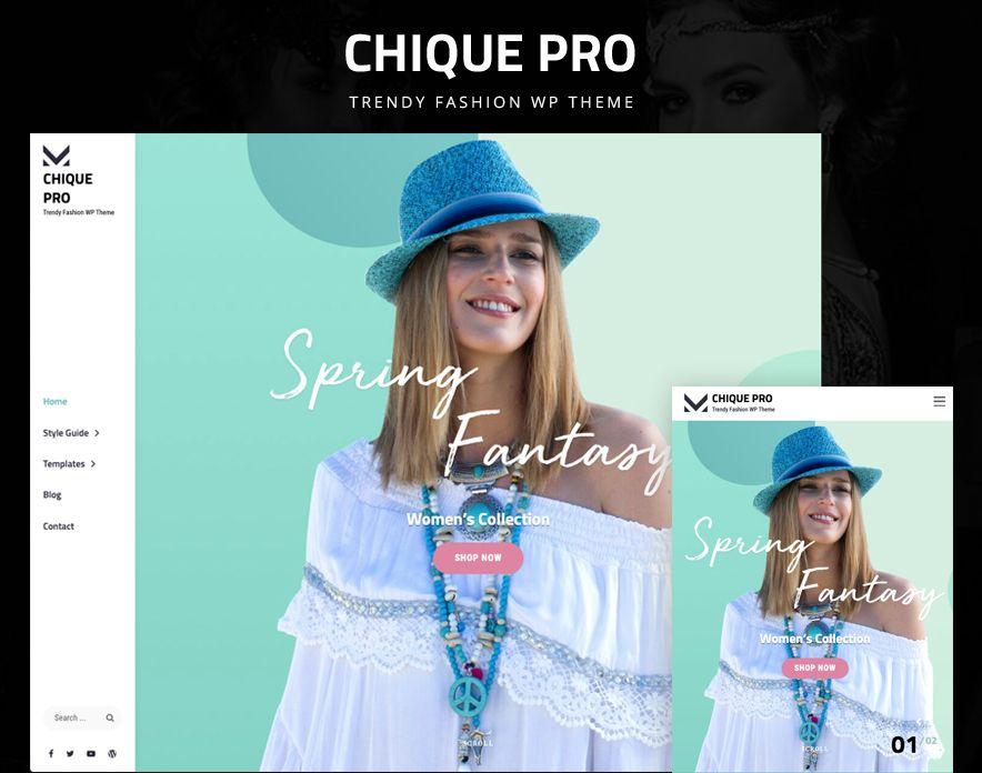 Chique Pro – Premium Fashion WordPress Theme for Fashion Bloggers