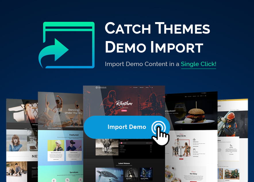 catch-themes-demo-import plugin