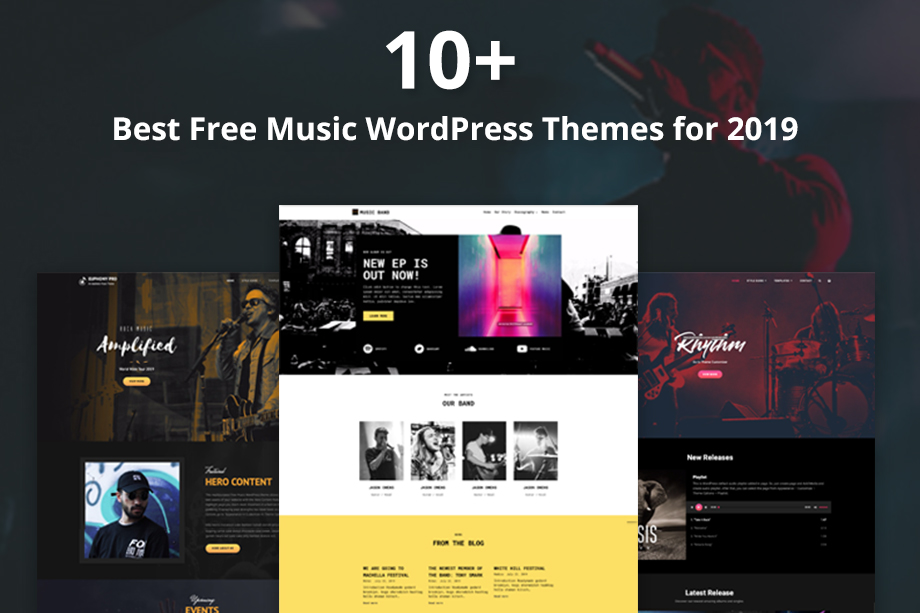 10+ Best Free Music WordPress Themes for 2019 year