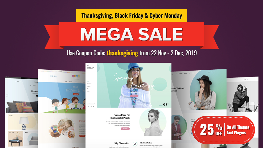 Happy Thanksgiving, Black Friday and Cyber Monday 2019