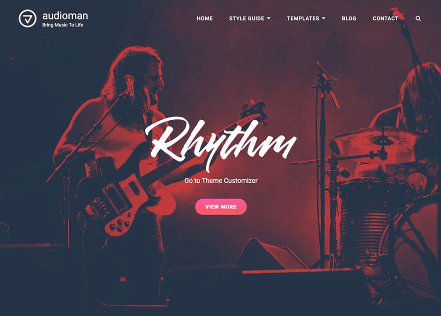 Audioman - 10+ Best Free Music WordPress Themes