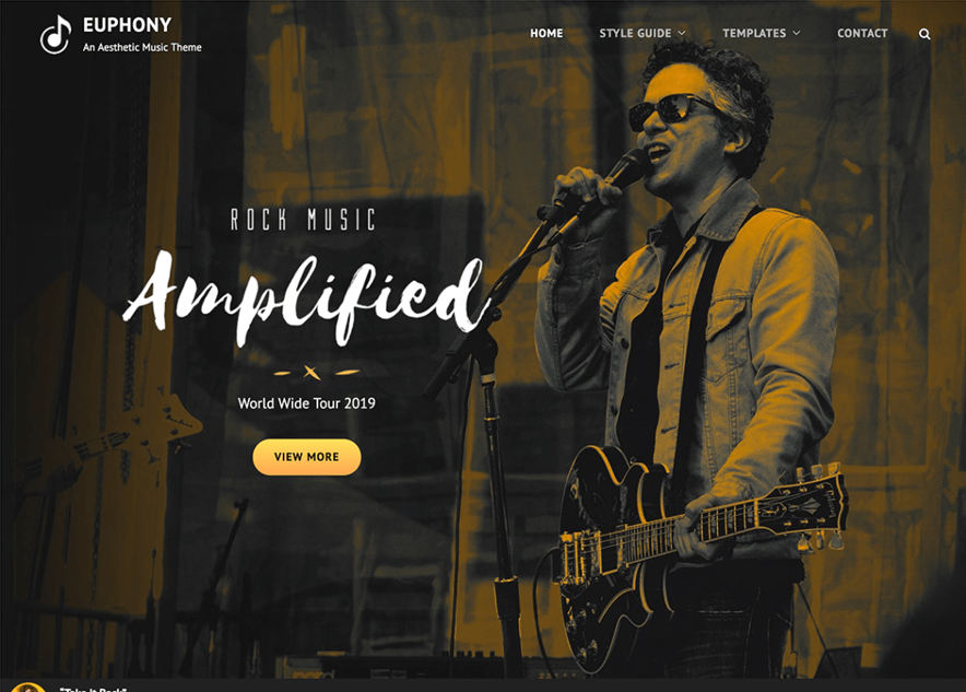 Euphony - 10+ Best Free Music WordPress Themes