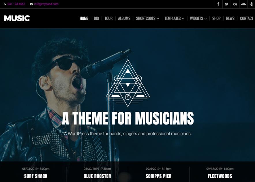 Muisc Lite - 10+ Best Free Music WordPress Themes