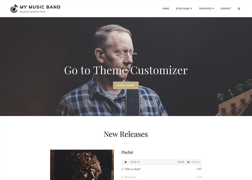 My Music Band - 10+ Best Free Music WordPress Themes