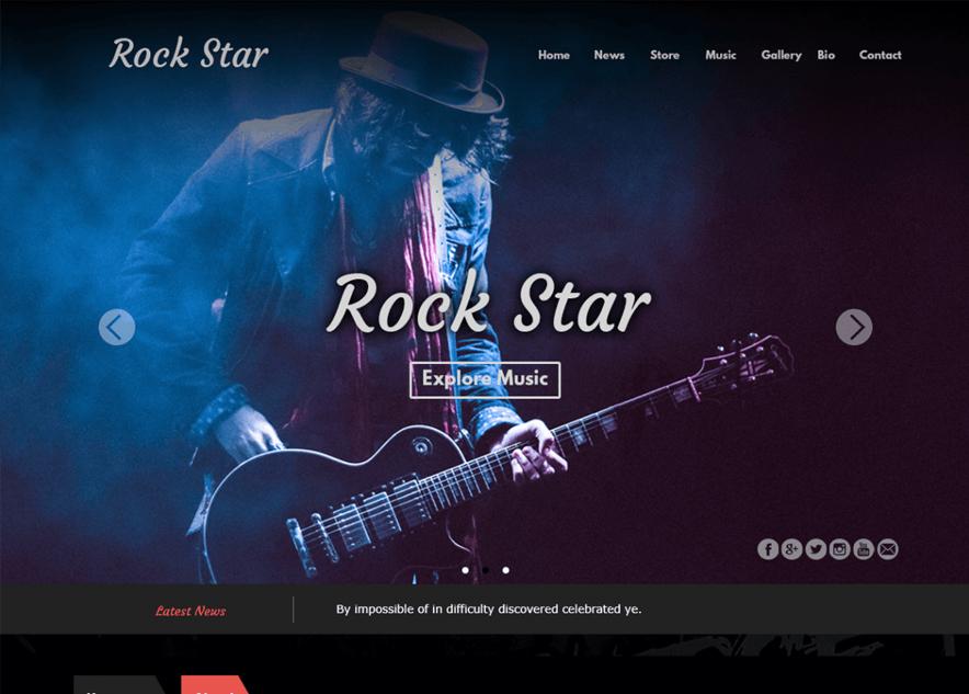 Rock Star - 10+ Best Free Music WordPress Themes