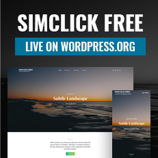 SimClick Free Theme is now live on WordPress.org