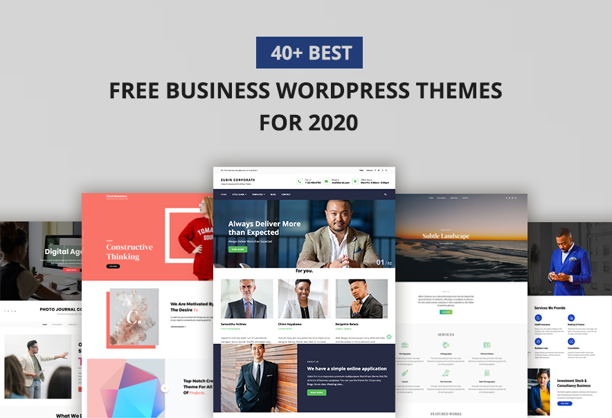 40+ Best Free Business WordPress Themes for 2020 main image