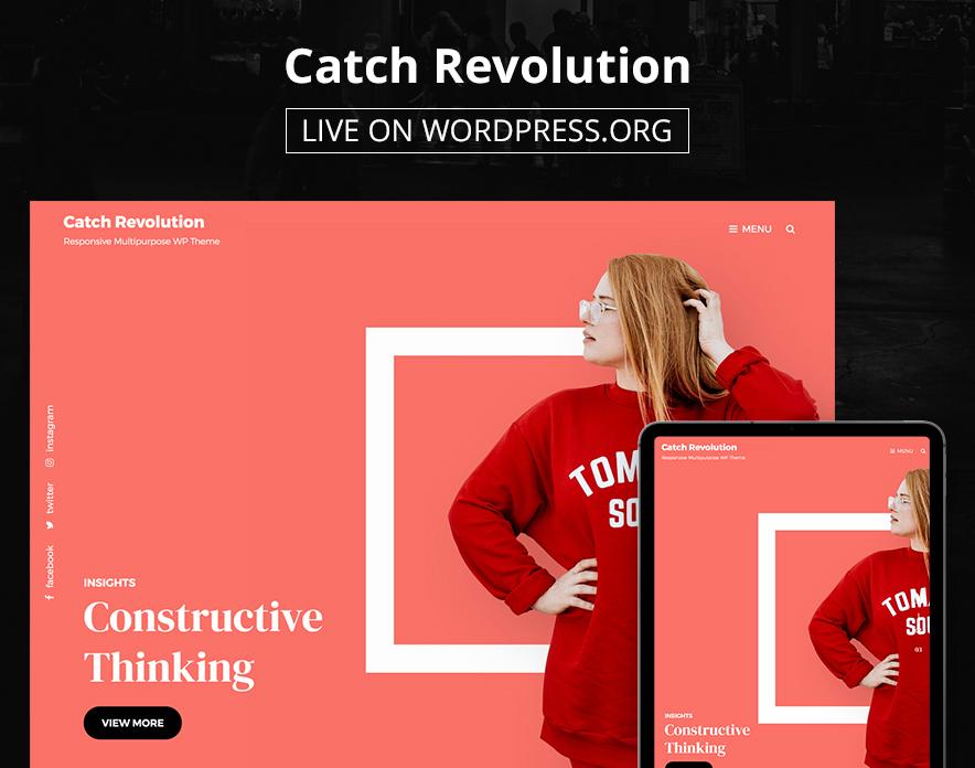 Catch Revolution is now Live on WordPress.org main image - Multipurpose WordPress Theme