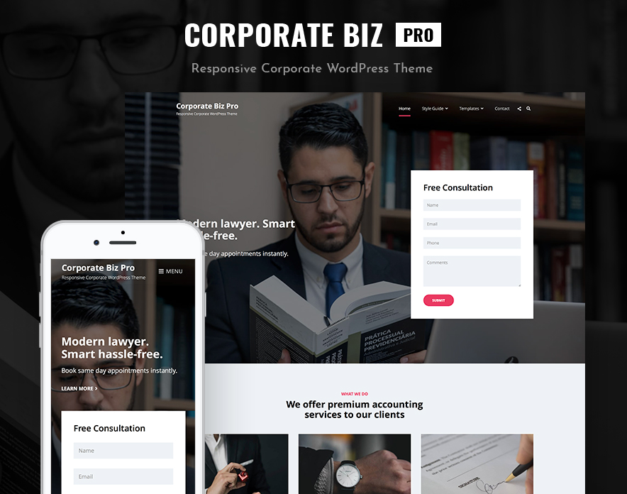 Corporate Biz Pro – Our New Corporate WordPress Theme for All Businesses featured image