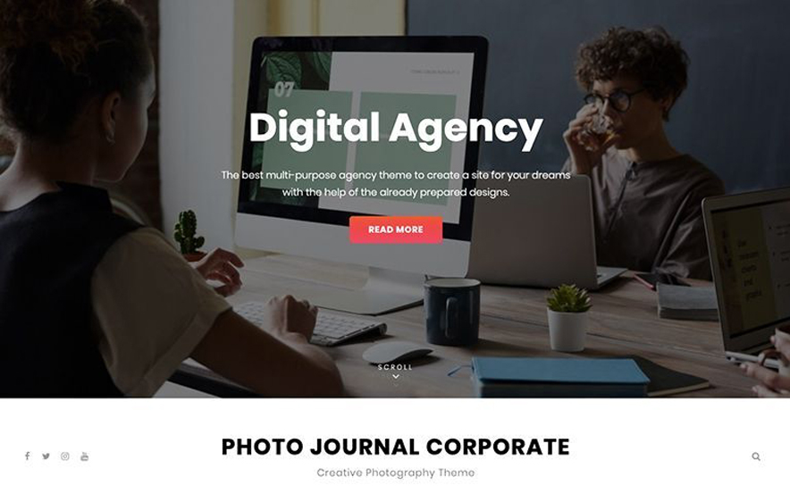 Photo Journal - 40+ Best Free Business WordPress Themes for 2020